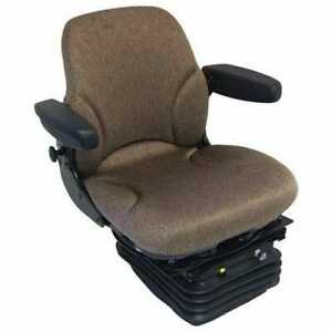 Seat Assembly Air Suspension With Armrests Fabric Brown John Deere 4430 4230