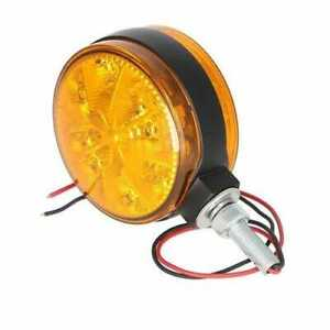 Led Safety Warning Light 12v 2 Wire Amber Round