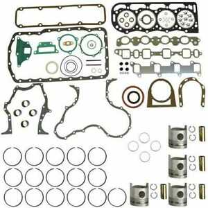 Engine Rebuild Kit Less Bearings Standard Pistons Ford 5610 New Holland