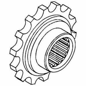 Front Coupler Sprocket Oliver 1755 1800 1655 1850 1650 1855 1555 1600 1550 1750