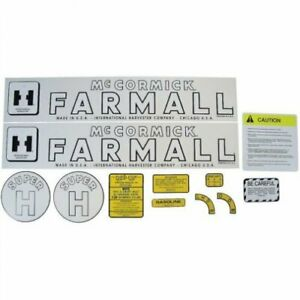 Decal Set Mylar Farmall Super H International Super H
