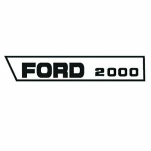 Hood Decal Set 1965 3 68 Ford 2000