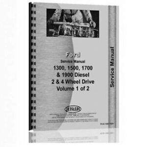 Service Manual 1300 1500 1700 1900 Ford 1700 1300 1500 1900