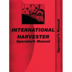 Operator s Manual 2444 International 2444 2444
