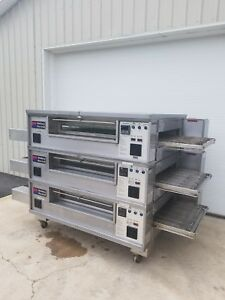 Middleby Marshall Ps570s Triple Deck Conveyor Pizza Oven excellent Condition