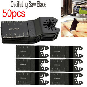 50 Pc Oscillating Multi Tool Saw Blade For Fein Multimaster Bosch Dremel Makita