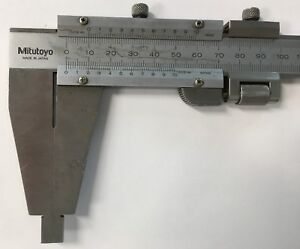 Mitutoyo 160 127 Vernier Caliper Nib Style Jaws And Fine Adjustment 0 300mm