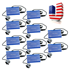 10pcs Black Led Head Light Lamp With Clip For Dental Surgical Loupes Ce Usa