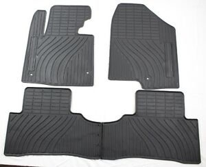 Custom Rubber Floor Mats Winter Slush Mats For 2013 2018 Hyundai Santa Fe