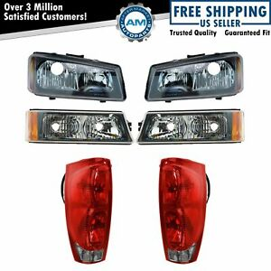 Headlight Tail Light Parking Lamp Front Rear Kit For 02 06 Chevy Avalanche New