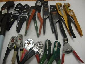Lot Of 16 Aircraft Wire Crimping Tool Coax Crimper Burndy T b Daniels Dmc Astro