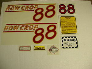 Oliver 88 Row Crop Tractor Decal Set Red Numbers New Free Shipping