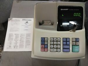 Sharp Electronic Cash Register Xe a102 No Drawer Key Needs Light Repairs