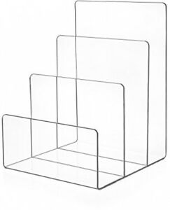 Source One Premium Clear Acrylic Desktop File Organizer