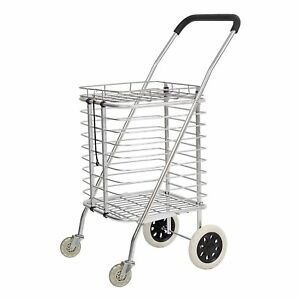 Aluminum Alloy Premium Heavy Duty Foldable Shopping Cart With Wheels