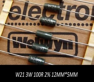 3w 100r 100 2 Wire Wound Metal Film Resistors High Precision W21 Type