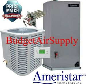 Ameristar 1 5 Ton 14 Seer Heat Pump Split System Free Tstat heat Strip