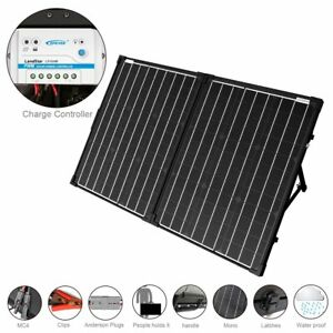 Acopower 100w Foldable Solar Panel Kit 12v Battery And Generator Ready Suitcase