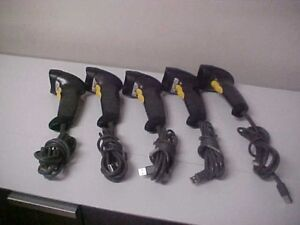 Lot Of 5 Symbol Ls2208 sr20007 Usb Laser Barcode Scanner With Usb Cable