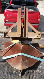 Old Giant Very Large Heavy V Double Side Plow 3 Point Hitch For Big Tractor