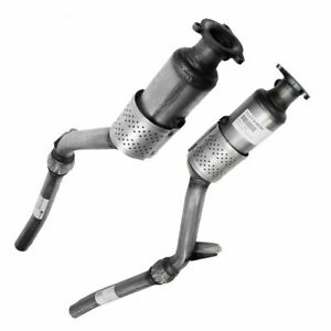 Front Exhaust Pipes Catalytic Converter Pair Lh Rh For Audi A4 Quattro 3 0
