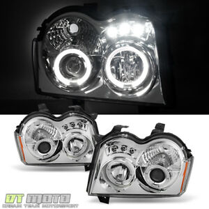 2005 2007 Jeep Grand Cherokee Led Halo Projector Headlights Headlamps Left right