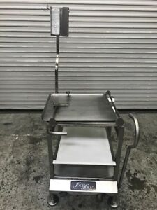 Slicer Cart W Mounting System Face To Face Deli Buddy 8262 Commercial Food Prep