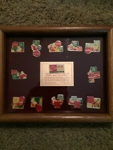 1984 Coca-Cola Olympics  Santa Clause Pin Set Limited Edition for Employees Only