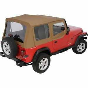 Rugged Ridge Soft Top New Tan Jeep Wrangler 1988 1995 13721 37