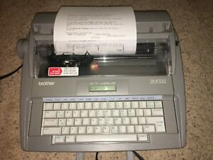Brother Sx 4000 Electronic Typewriter W Lcd Display No Keyboard Cover