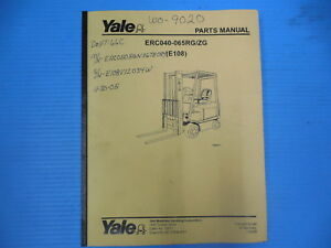 Yale Erc 040 065 Electric Lift Truck Parts Manual Specifications Forklift
