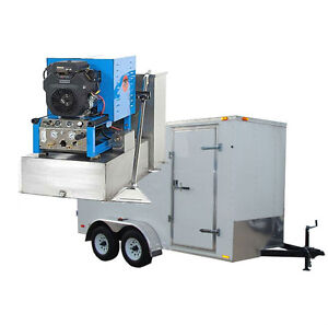 New Complete Carpet Cleaning Trailer Package With 20hp Equipment Machine Cleaner