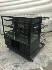 48 Dry Glass Bakery Display Case With 4 Tier Shelf Wire Bread Rack Marco 8166