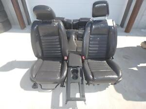 2005 2009 Ford Mustang Shelby Gt500 Black Leather Front rear Seats W console