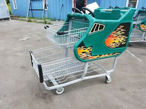 Supermarket Grocery Shopping Carts Kid Cart Children Fun Race Car
