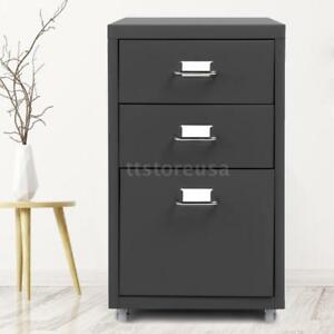 Top Ikayaa 3 Drawer Metal File Filing Cabinet Home Office Storage Cupboard V5f1