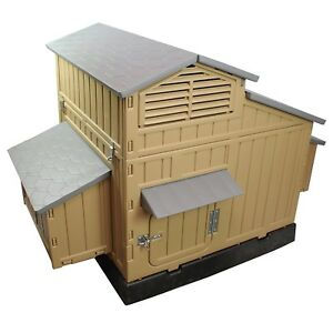 Chicken Coop Snap Lock Large Backyard Hen House 4 6 Large 6 12 Chicken Coop Kit
