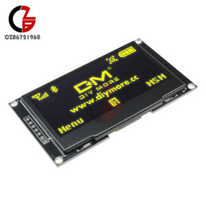 2 42 Inch Yellow Oled Display Module Spi I2c Serial Ssd1309 For Arduino 128x64