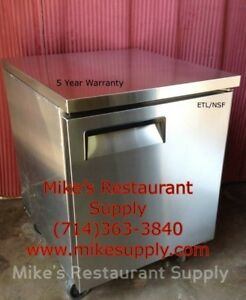 New 1 Door Under Counter Refrigerator Stainless 8268 Commercial Cooler Etl nsf
