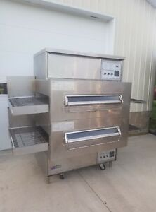 Middleby Marshall Ps360q Double Deck Conveyor Pizza Oven belt Width 32