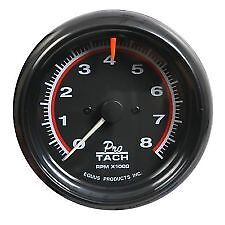 Equus 3 3 8 Inch Black Faced Conventional Electrical Tachometer 0 8000 Rpm