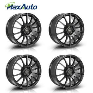 4 Pcs 5 Lug 17 Wheels 17x7 5 Rims 5x112 35mm Black For Mercedes benz E300