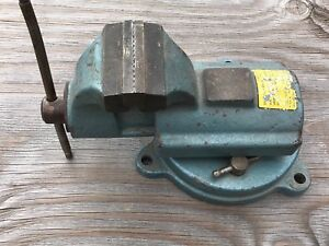 Vintage Fpu Bison No 327 Heavy Duty Swivel Anvil Vise 4 Jaws