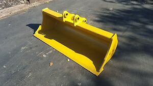 New 48 Caterpillar 301 7d Ditch Cleaning Bucket With Pins