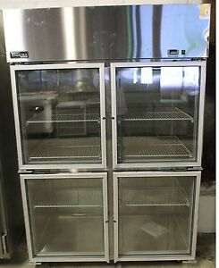 New Master bilt Four Split Glass Door Refrigerator