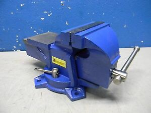 Interstate 5 Cast Iron Bench Top Vise With Bolt down Swivel Base
