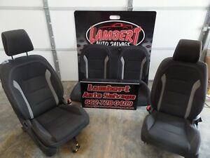 2017 Camaro Ss Seats Set Oem Street Rod Project Custom Black Cloth Ls3 Lsx