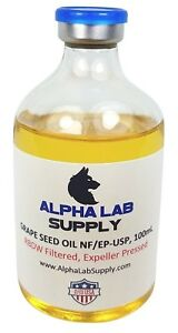 Alpha Lab Supply 100ml Sterile Filtered Grape Seed Oil Usp Free Shipping