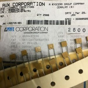 200v 47pf 1 Precision Multilayer High frequency Ceramic Disc Capacitors For Avx