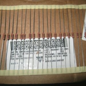 0 25w 100r 100 0 1 Ultra precision Axial Resistors Cmf55 For Vishay Dale